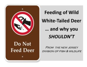 DO NOT FEED THE DEER